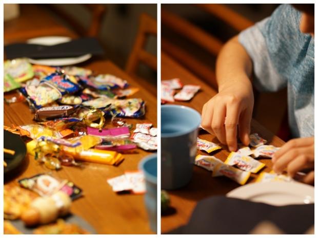 Collage_Fotor Halloween Süßigkeiten